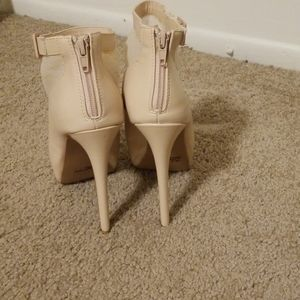 Charlotte Russe Shoes - Pinkish Lace Booties